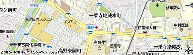 京都府京都市左京区一乗寺地蔵本町周辺の地図