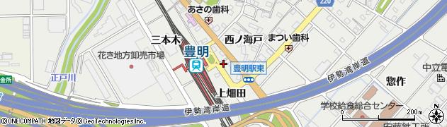 愛知県豊明市阿野町(上畑田)周辺の地図