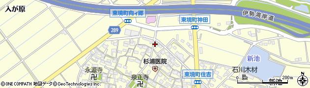 愛知県刈谷市東境町(藪下)周辺の地図