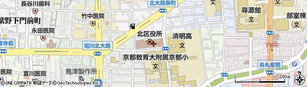 京都府京都市北区周辺の地図