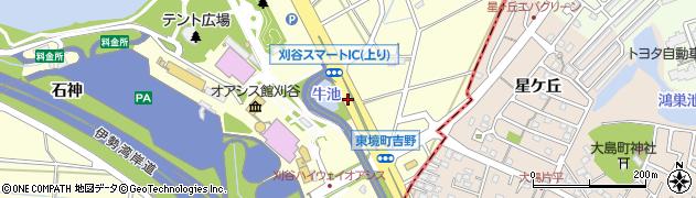 愛知県刈谷市東境町(吉野)周辺の地図