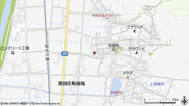〒679-0303 兵庫県西脇市黒田庄町前坂の地図