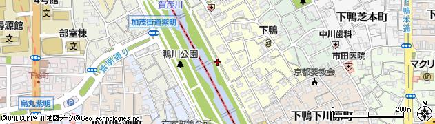 京都府京都市左京区下鴨中川原町周辺の地図