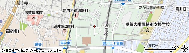 滋賀県大津市見世周辺の地図