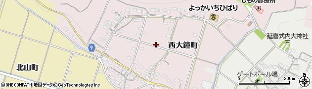 三重県四日市市西大鐘町周辺の地図