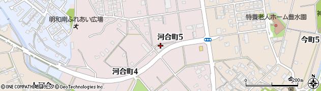 愛知県豊田市河合町周辺の地図