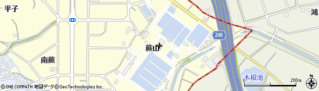 愛知県東海市名和町(蕨山)周辺の地図