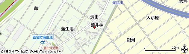 愛知県刈谷市西境町(荒井林)周辺の地図