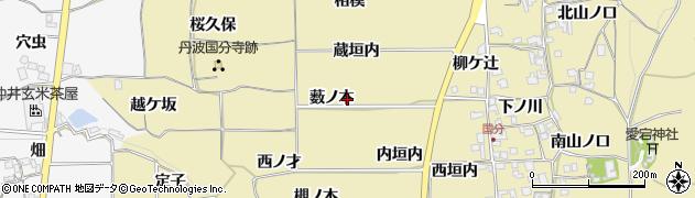 京都府亀岡市千歳町国分(薮ノ本)周辺の地図
