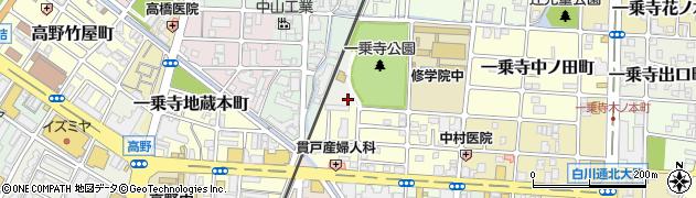 京都府京都市左京区一乗寺御祭田町周辺の地図