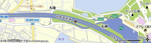 愛知県刈谷市東境町(石神)周辺の地図