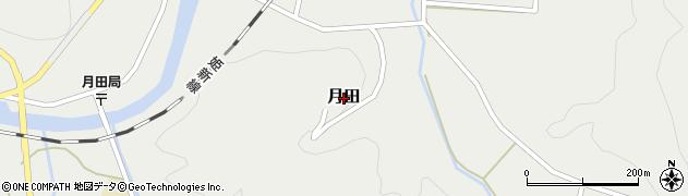岡山県真庭市月田周辺の地図