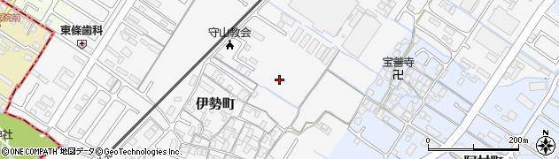 滋賀県守山市伊勢町周辺の地図