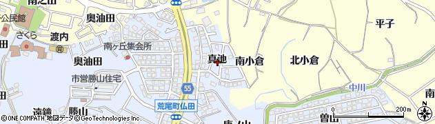愛知県東海市荒尾町(真池)周辺の地図