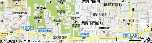 徳禅寺周辺の地図