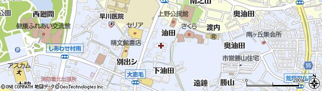 愛知県東海市荒尾町(油田)周辺の地図