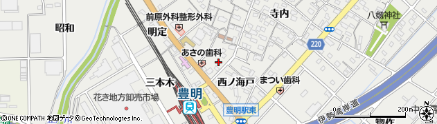 愛知県豊明市阿野町(西ノ海戸)周辺の地図