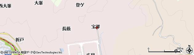 愛知県豊田市桂野町(宝澤)周辺の地図