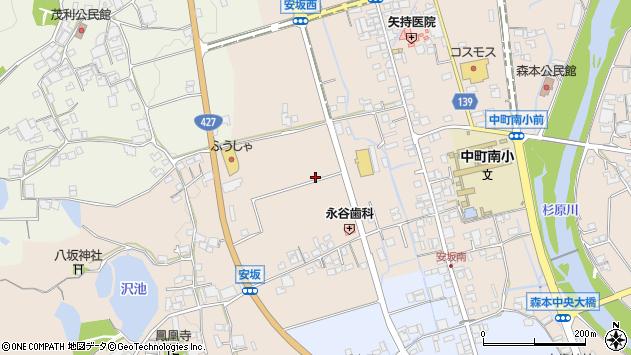 〒679-1135 兵庫県多可郡多可町中区安坂の地図