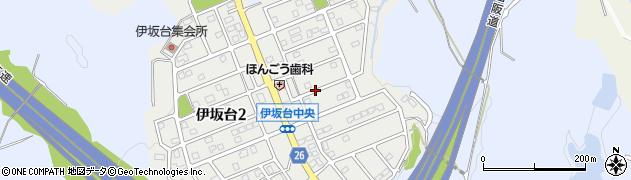 三重県四日市市伊坂台周辺の地図