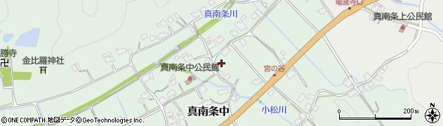 兵庫県丹波篠山市真南条中周辺の地図
