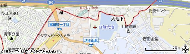愛知県大府市共和町(大池下)周辺の地図