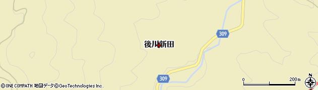 兵庫県丹波篠山市後川新田周辺の地図