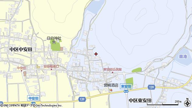 〒679-1121 兵庫県多可郡多可町中区東安田の地図