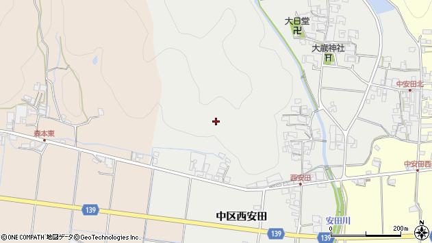 〒679-1123 兵庫県多可郡多可町中区西安田の地図