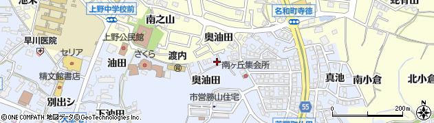 愛知県東海市荒尾町(奥油田)周辺の地図