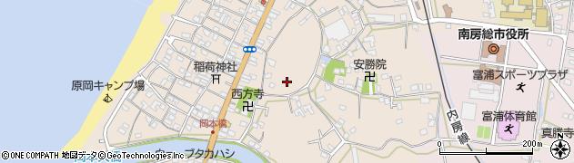千葉県南房総市富浦町原岡周辺の地図