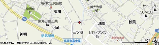 愛知県豊田市高岡町(三ツ池)周辺の地図