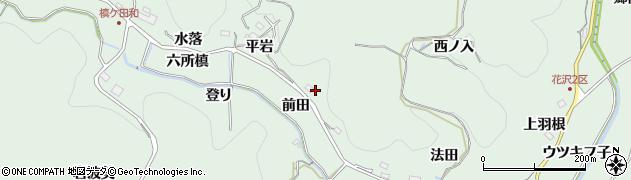 愛知県豊田市花沢町(平岩)周辺の地図