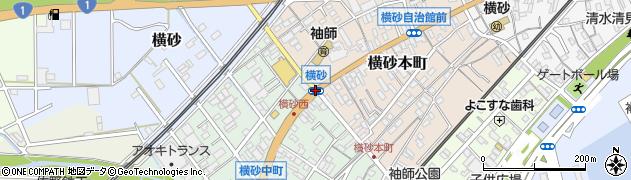 横砂周辺の地図