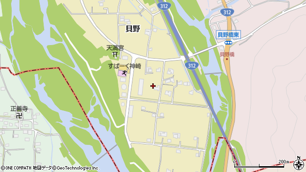 〒679-2422 兵庫県神崎郡神河町貝野の地図