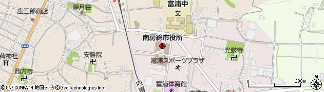 千葉県南房総市周辺の地図
