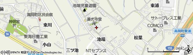 愛知県豊田市高岡町(池端)周辺の地図