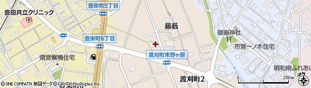 愛知県豊田市渡刈町(末野ケ原)周辺の地図