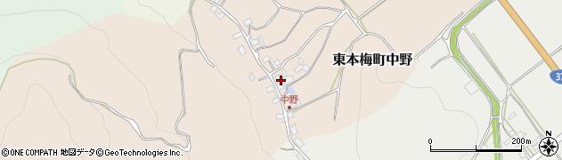 京都府亀岡市東本梅町中野(北垣内)周辺の地図