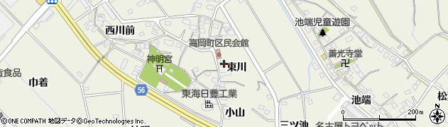 愛知県豊田市高岡町(東川)周辺の地図