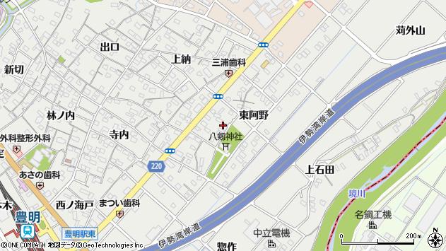 〒470-1142 愛知県豊明市阿野町東阿野の地図