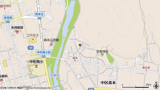 〒679-1124 兵庫県多可郡多可町中区森本の地図