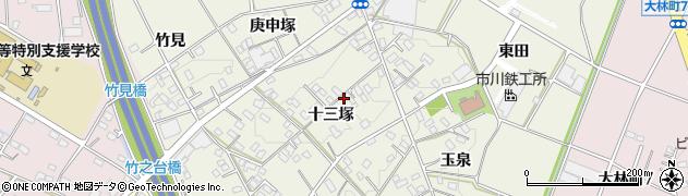 愛知県豊田市宝町(十三塚)周辺の地図
