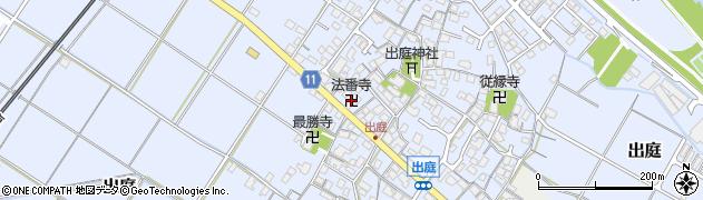 法香寺周辺の地図