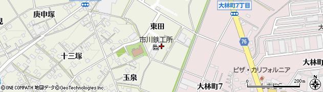 愛知県豊田市宝町(東田)周辺の地図