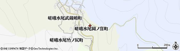 京都府京都市右京区嵯峨水尾岡ノ窪町周辺の地図