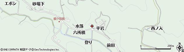 愛知県豊田市花沢町(水落)周辺の地図