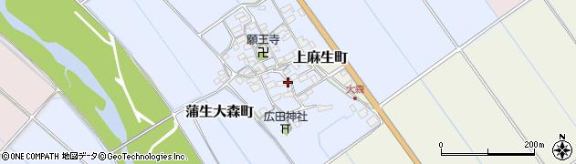 滋賀県東近江市蒲生大森町周辺の地図