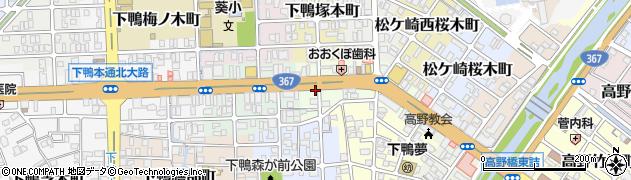 京都府京都市左京区下鴨高木町周辺の地図