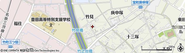 愛知県豊田市宝町(竹見)周辺の地図